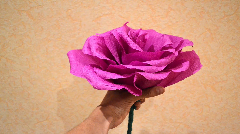 Огромные цветы. Роза из бумаги своими руками+шаблоны