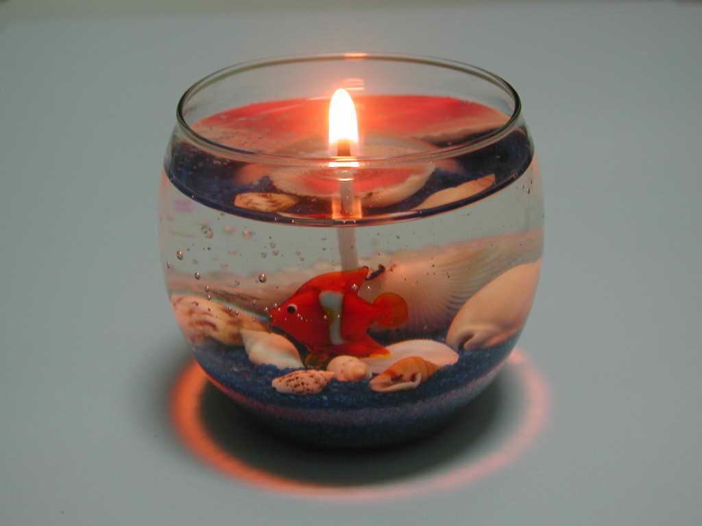 Гелевая свеча «Морское дно»