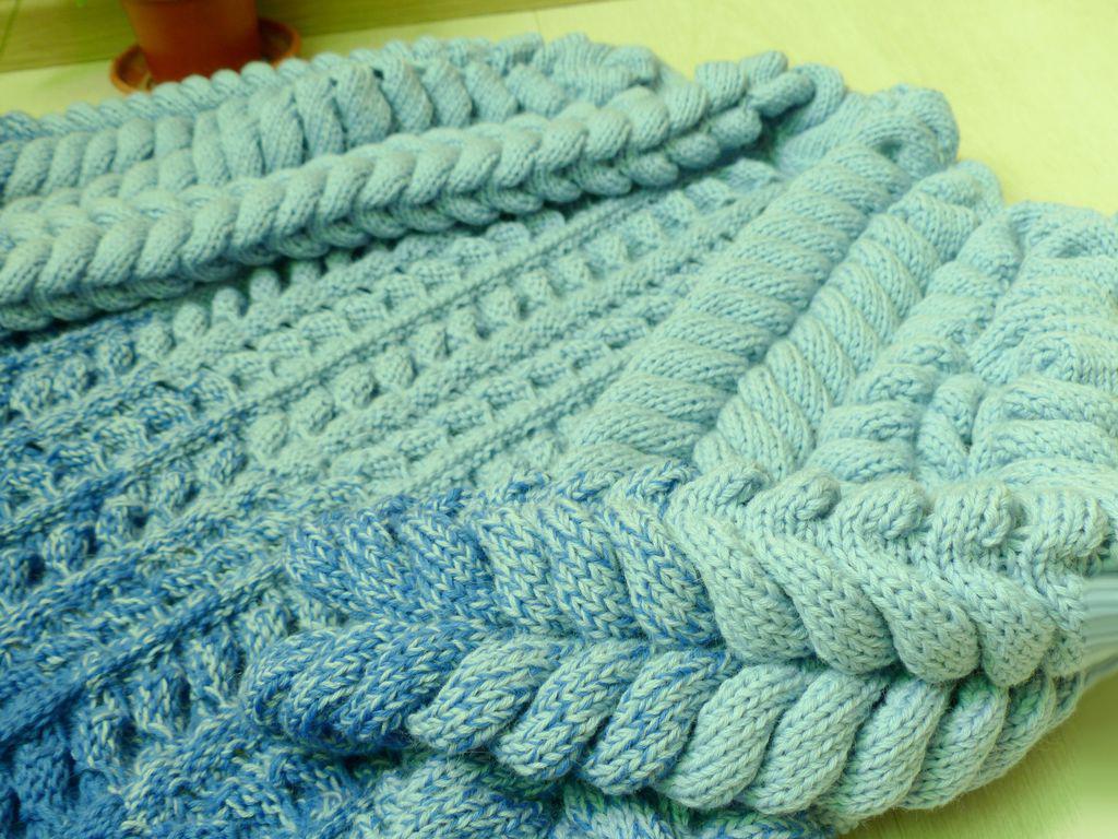 Пуловер узором азиатский колосок
