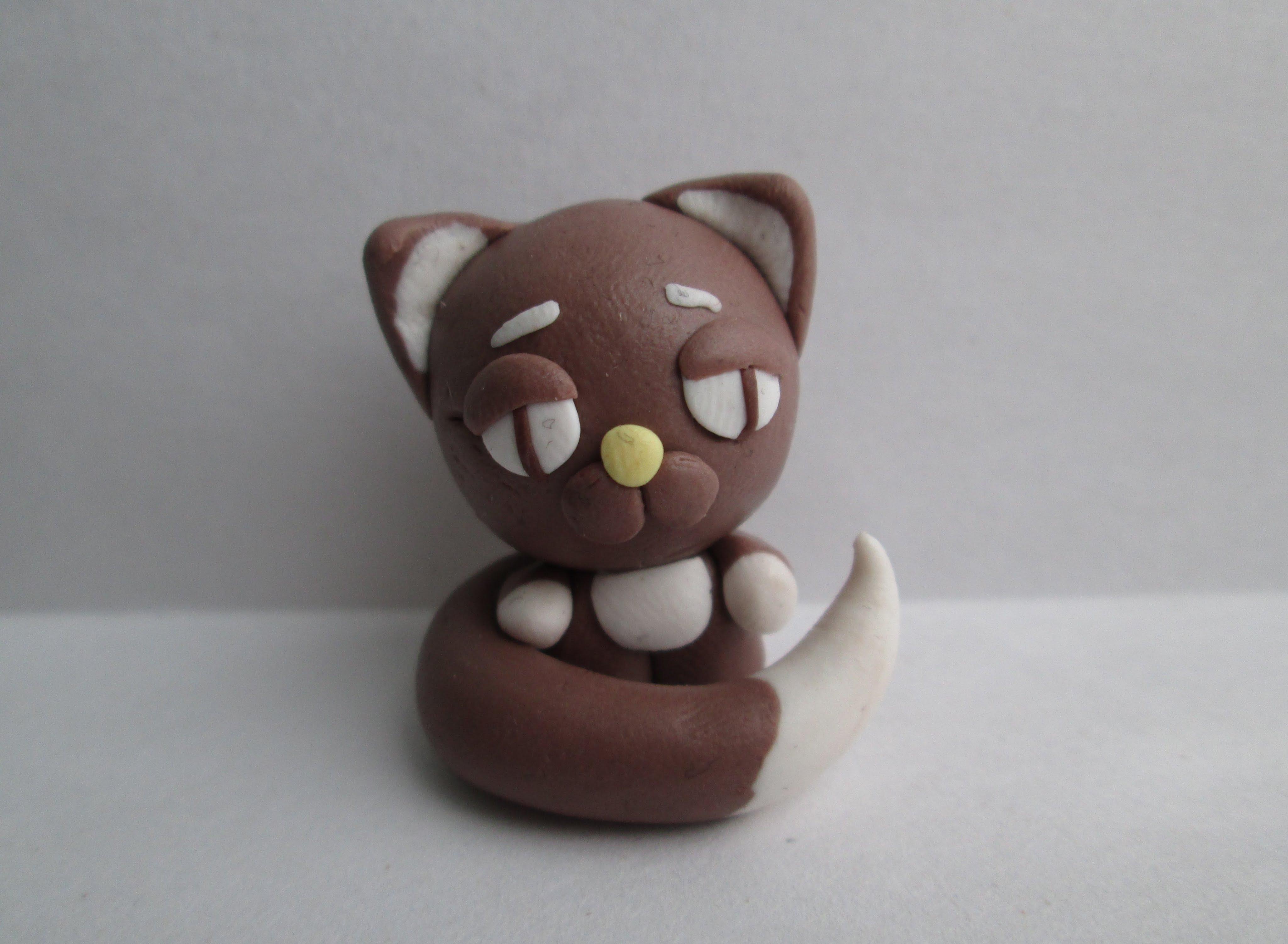 Лепим сережки-котики из полимерной глины