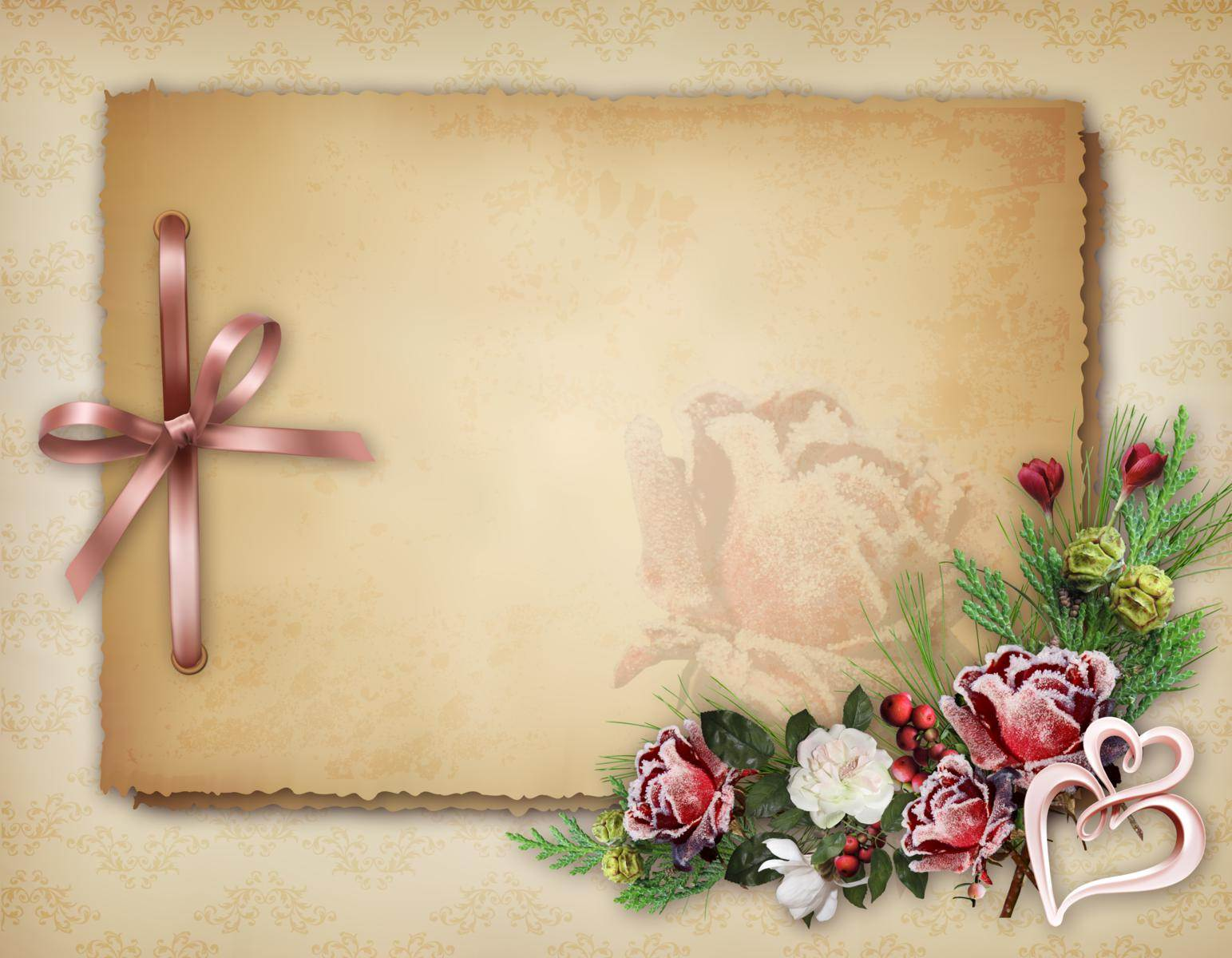 Картинки, двухсторонняя открытка шаблон