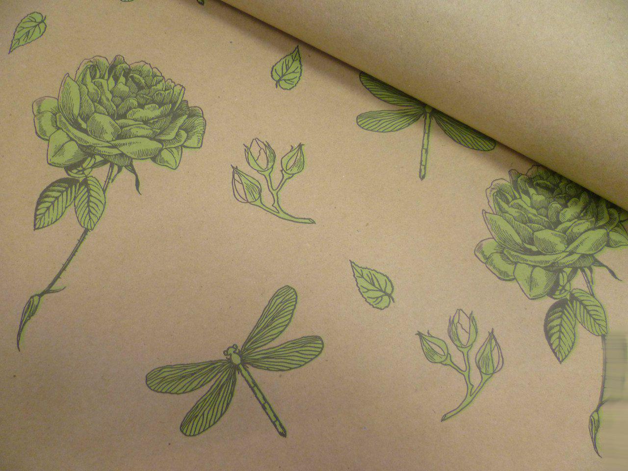 Оберточная бумага и картинки для творчества