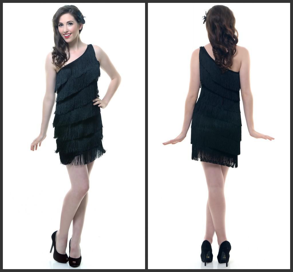 Черное платье на одно плечо. Мастер-класс по шитью
