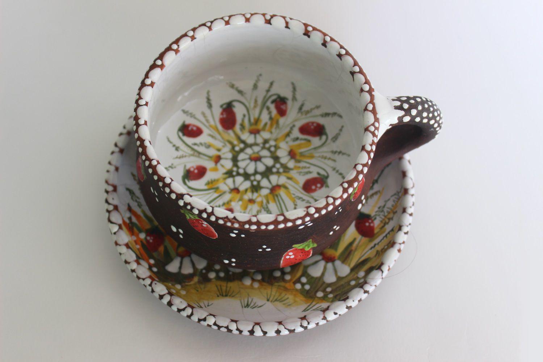 Роспись керамической чайной пары