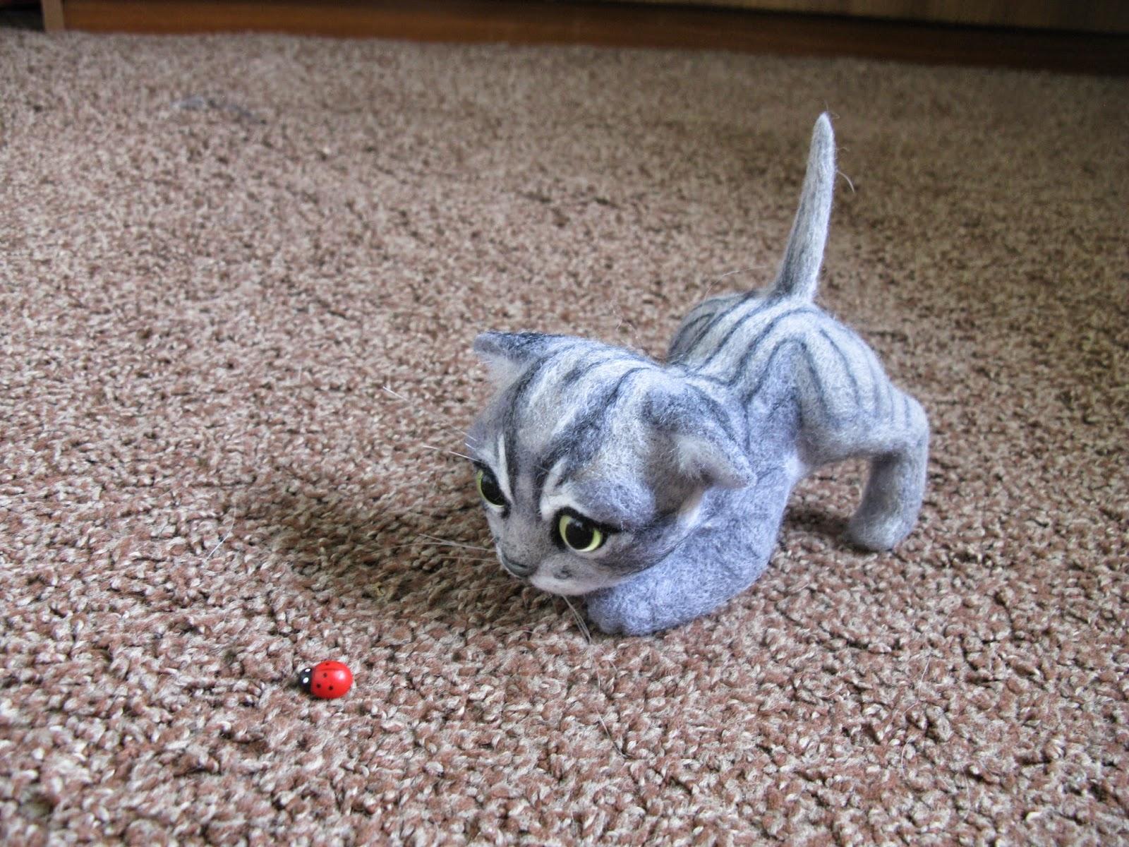 Валяние. Как сделать котенка своими руками