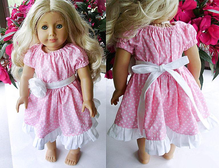Шьем кукольное платье