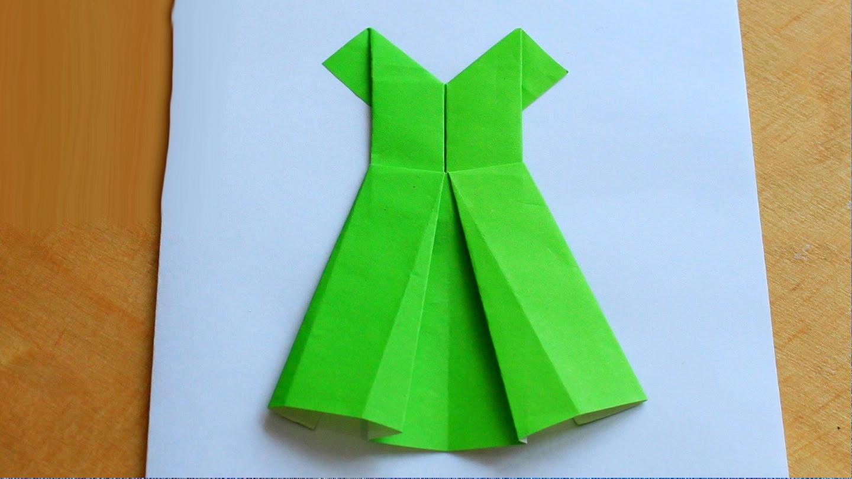 Оригами открытка с платьями