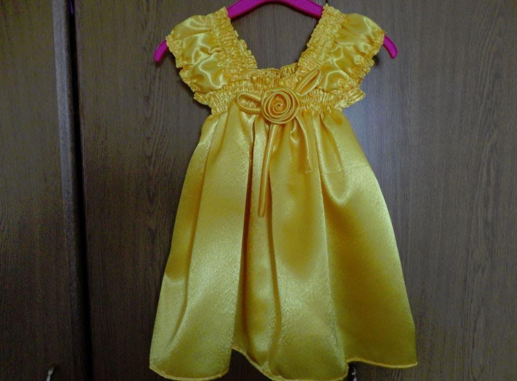Платье для девочки без выкройки своими руками. Мастер-класс