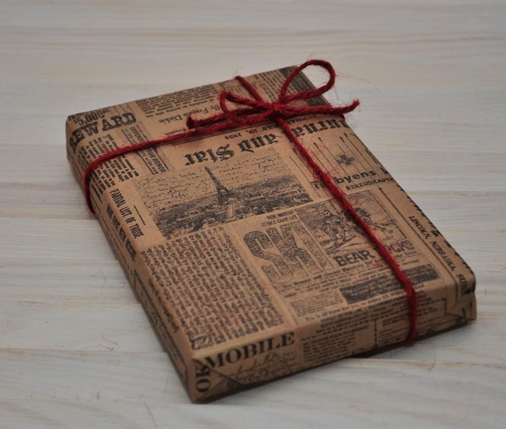 Упаковка подарков из газет