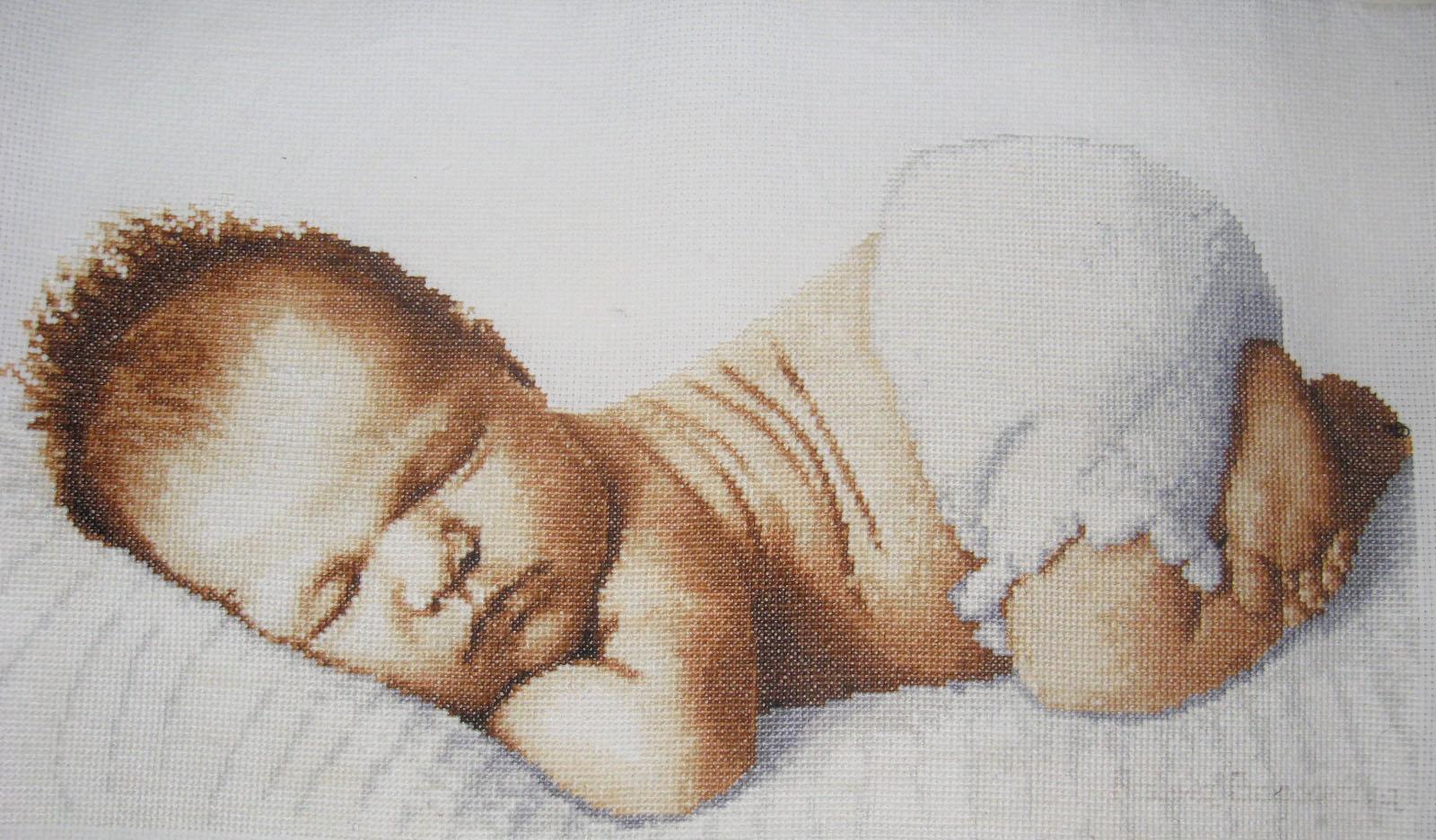 Вышивка для новорожденных картинка