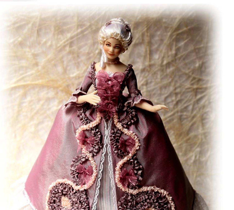 Платье в викторианском стиле для куклы