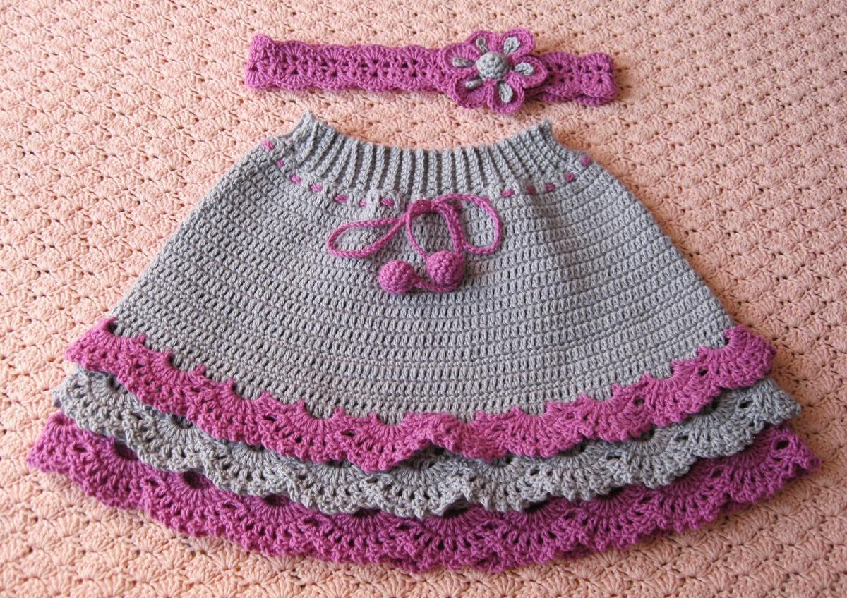 Пальто с цветами и теплая юбка для девочки