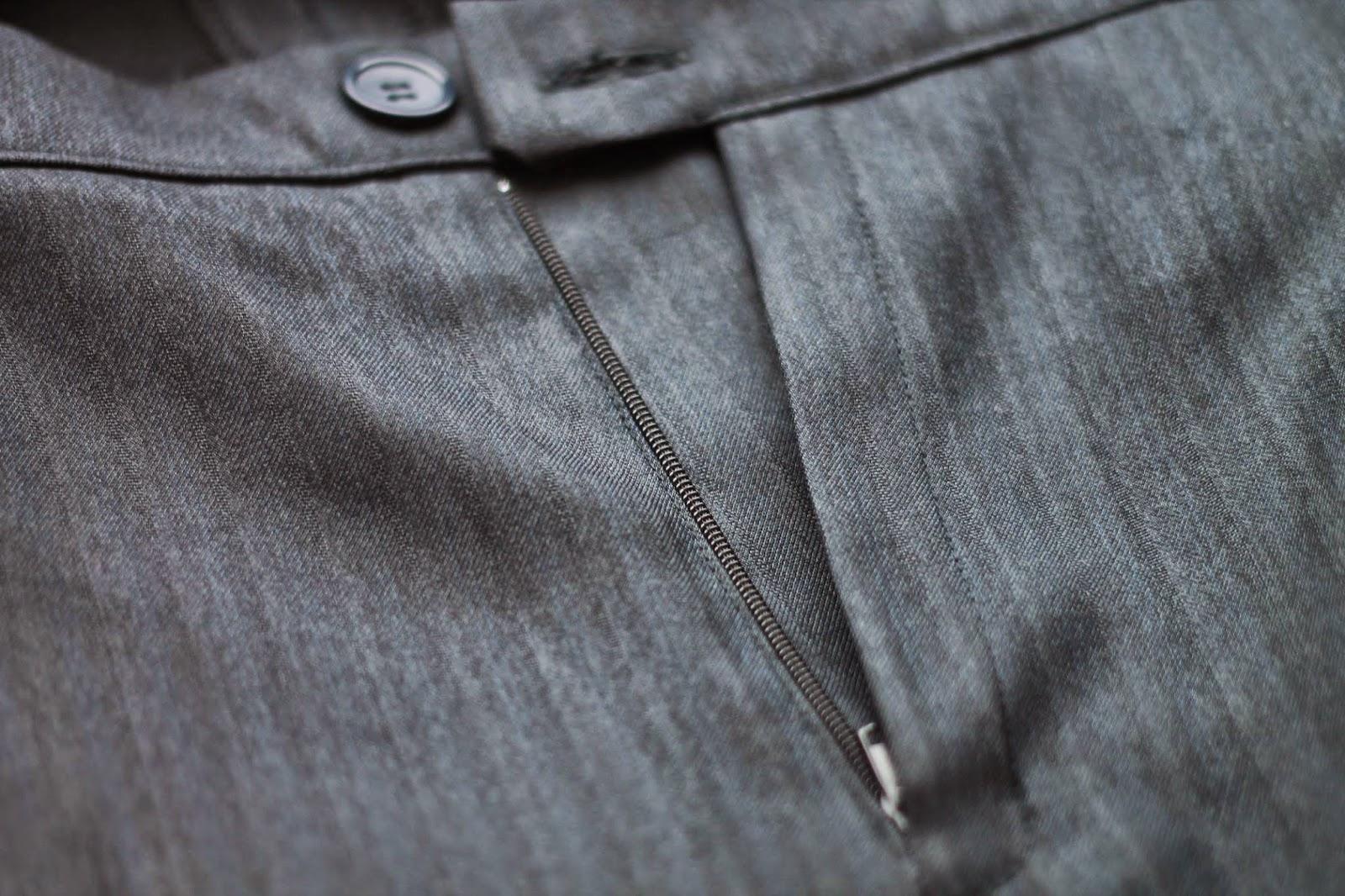 Как вшить молнию в брюки или юбку
