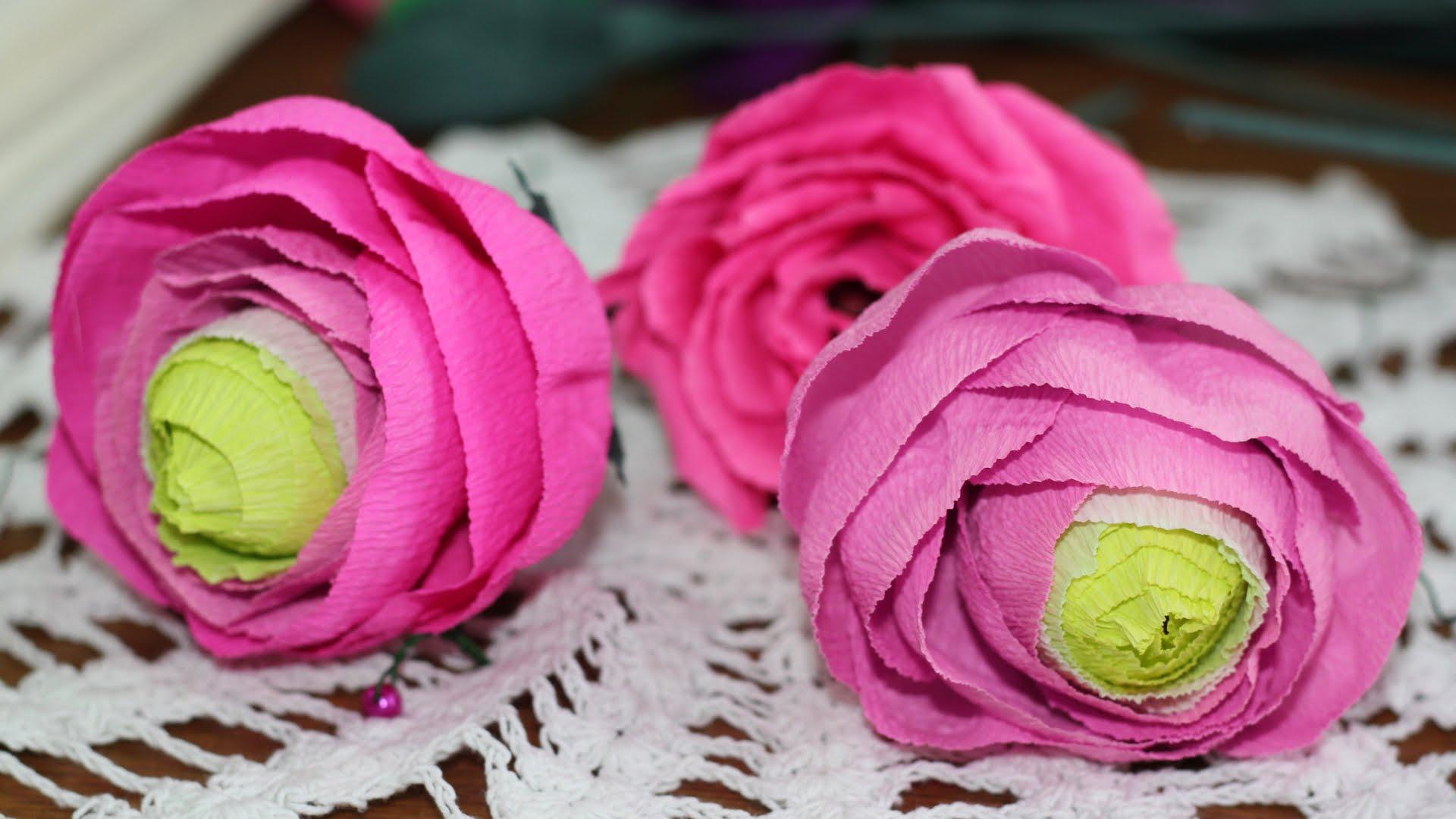 Ранункулюсы. Цветы из бумаги своими руками. Мастер-класс и шаблон
