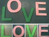 Картонные буквы из ниток
