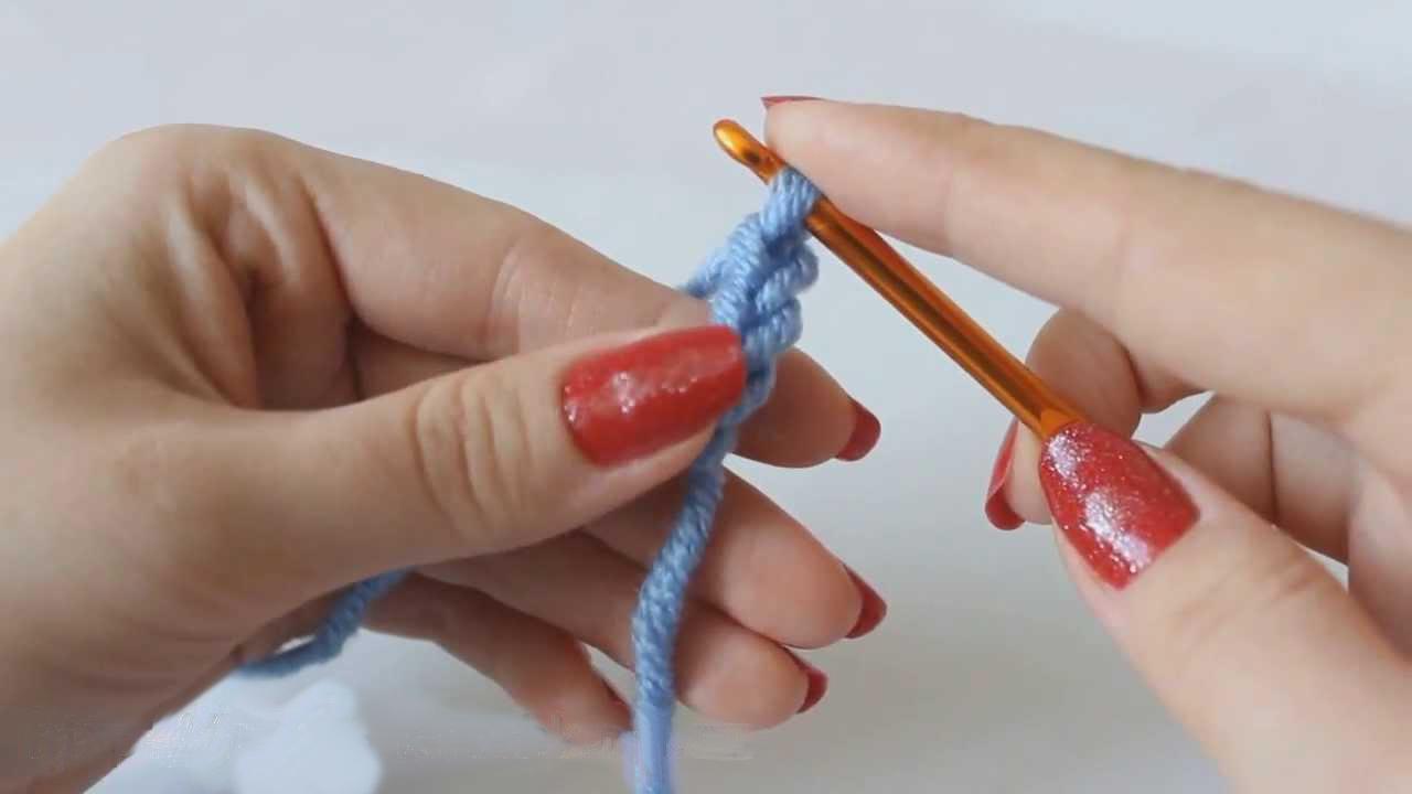 Начало вязания крючком. Как набрать и вязать воздушные петли