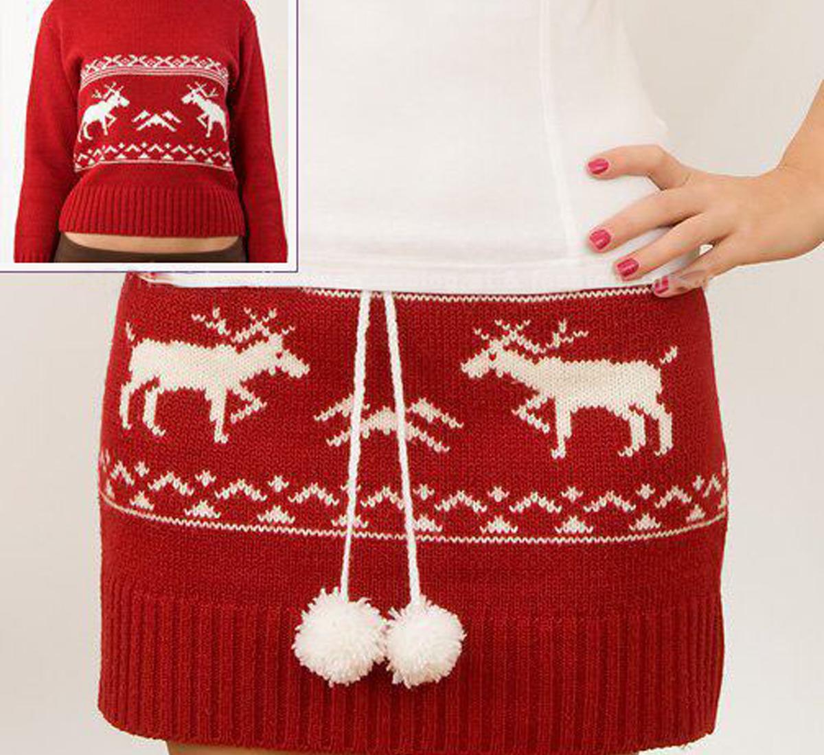 Юбка из свитера