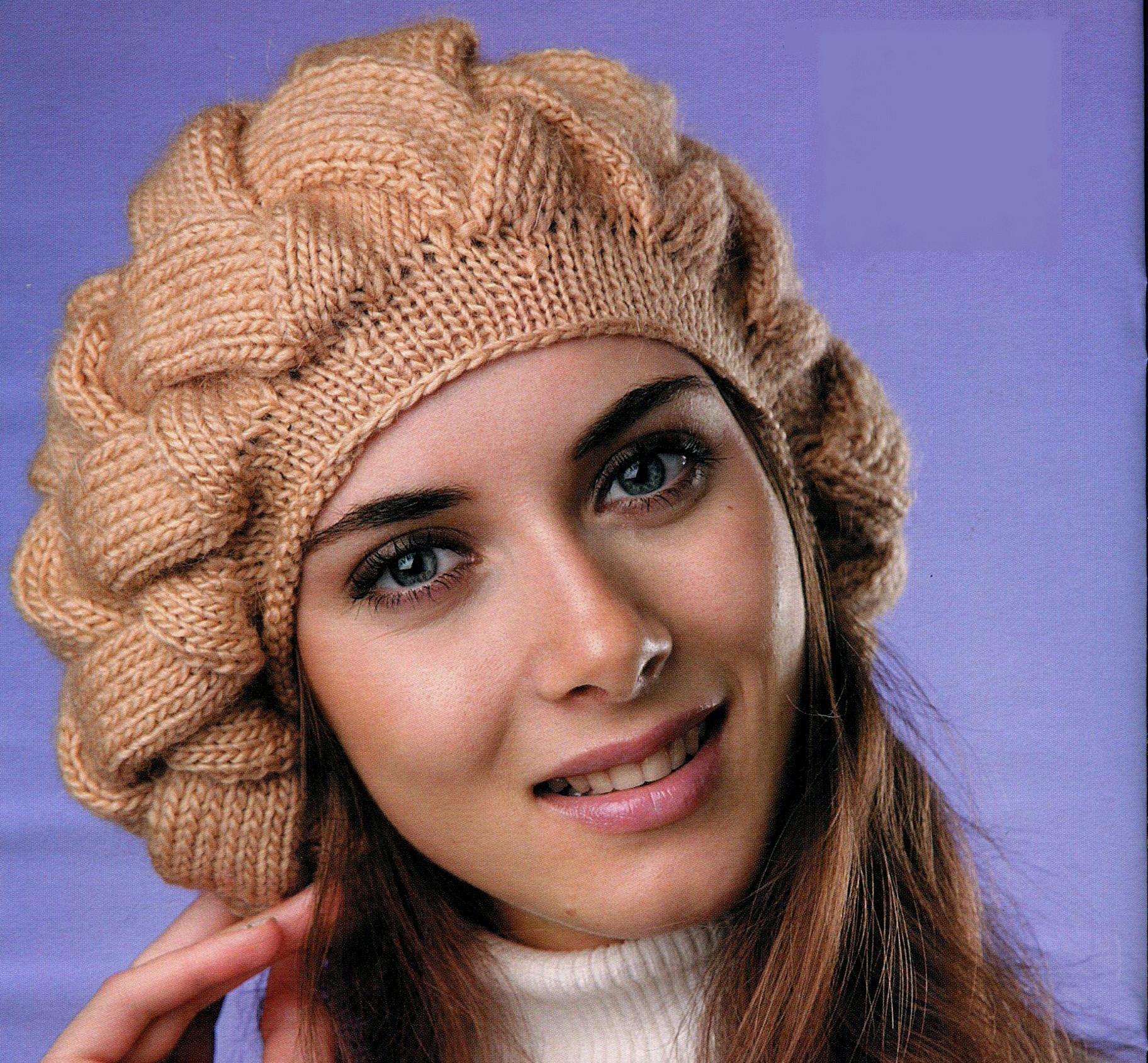Схемы и описание шапок. Вязание спицами