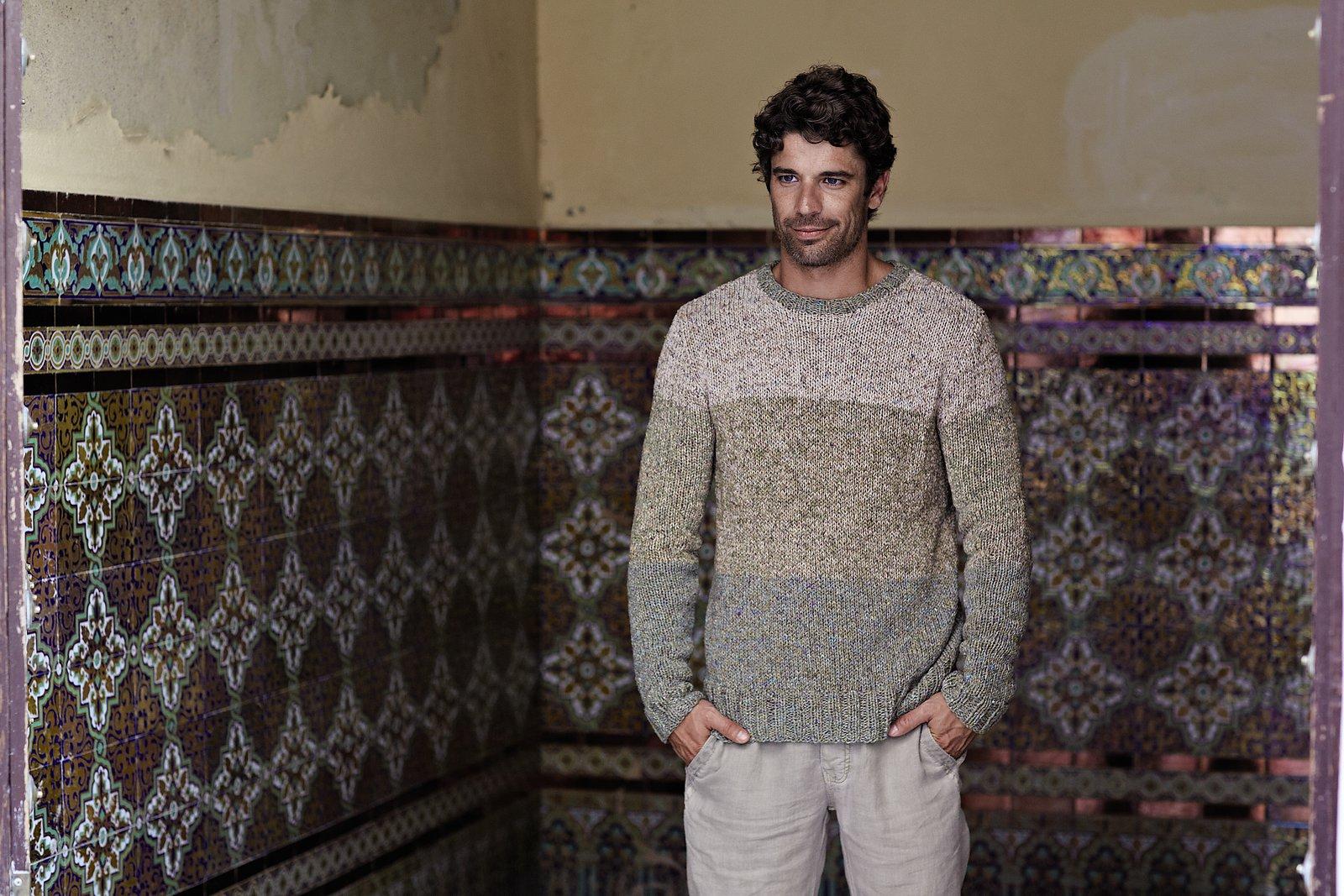 Вязание крючком. Пуловеры, шапки для мужчин