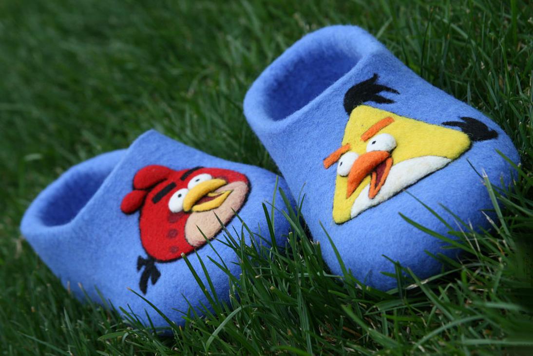 Валяные Angry Birds