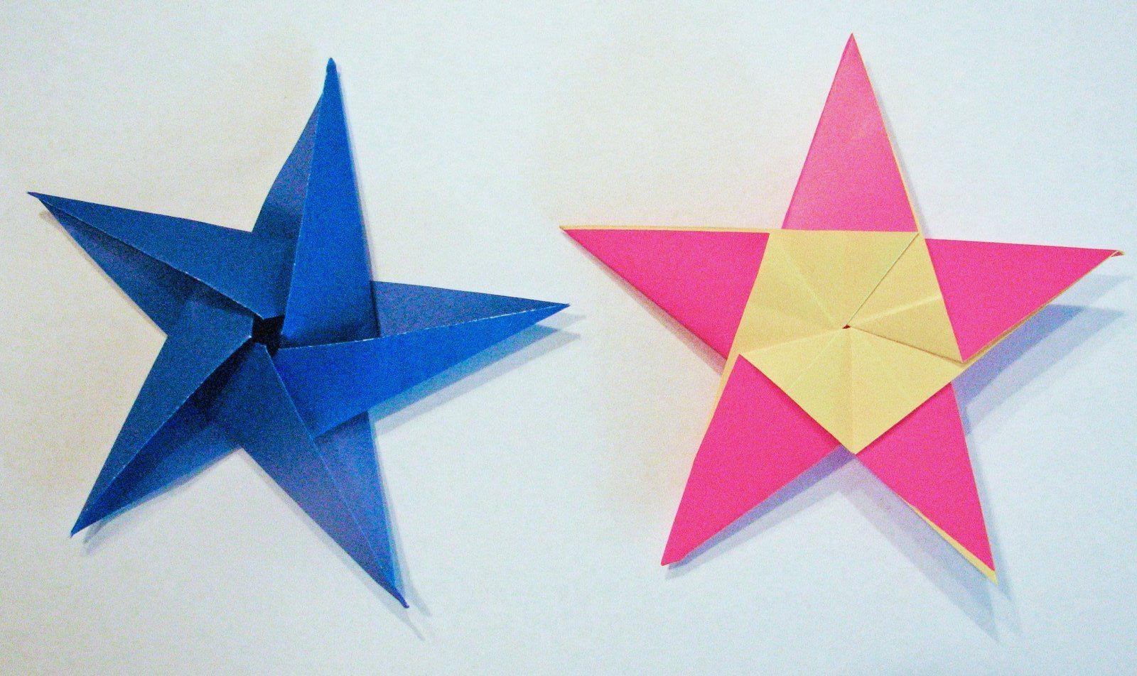 Звезды из бумаги. Шаблон