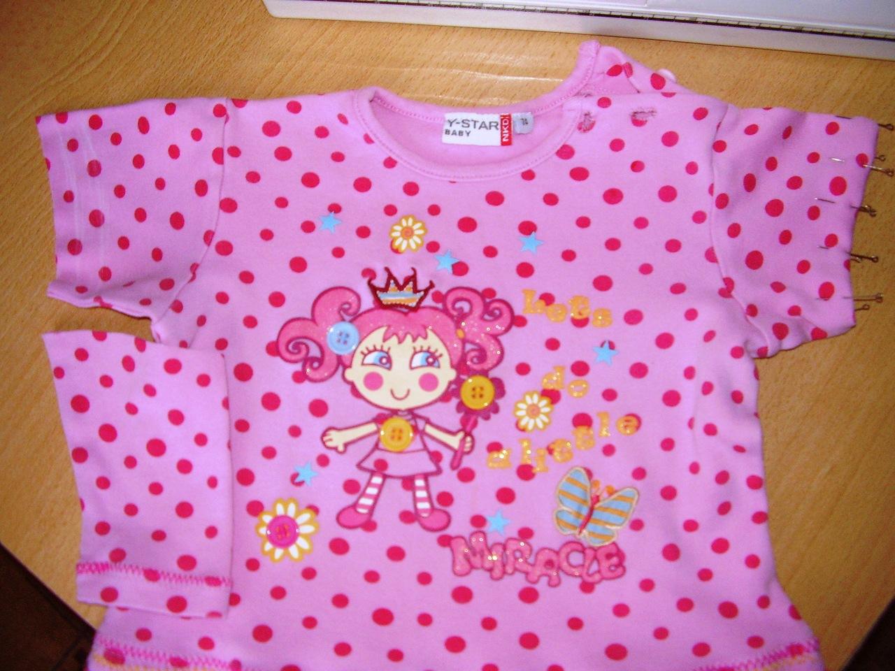 Детское платье из футболки