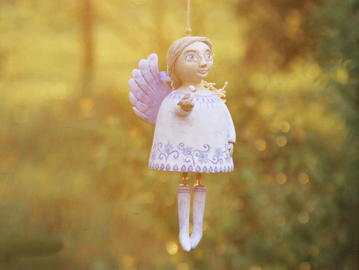 Рождественский ангел из папье-маше