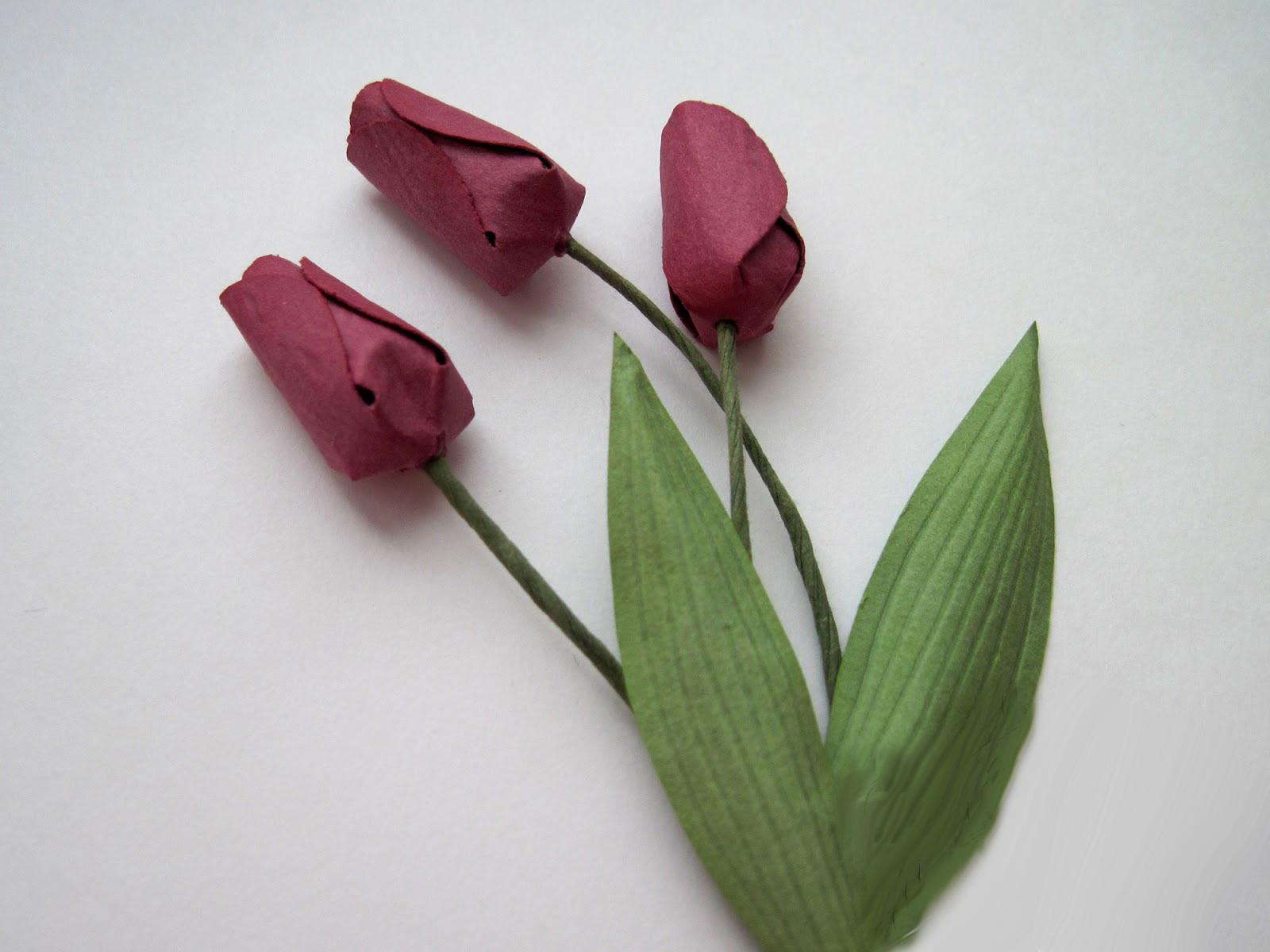 Весенние цветы из креповой бумаги и акварели. Мастер-класс
