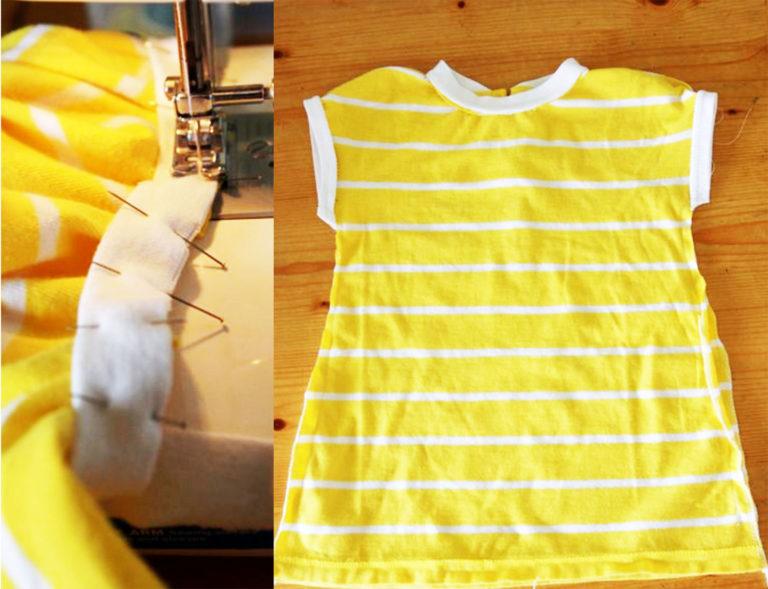 Платье для малышки из футболки