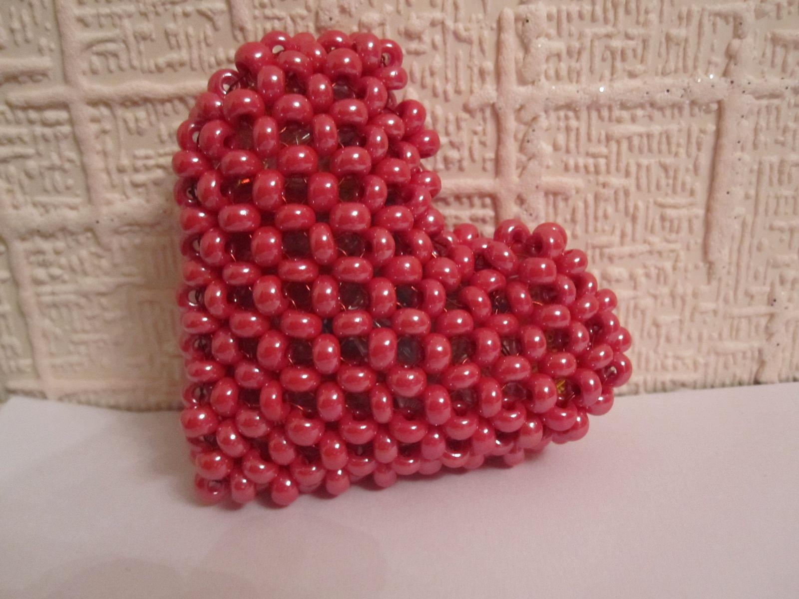 Кулон сердце из бисера своими руками