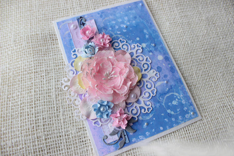 Открытки ручной работы. Цветы из бумаги. Мастер-класс