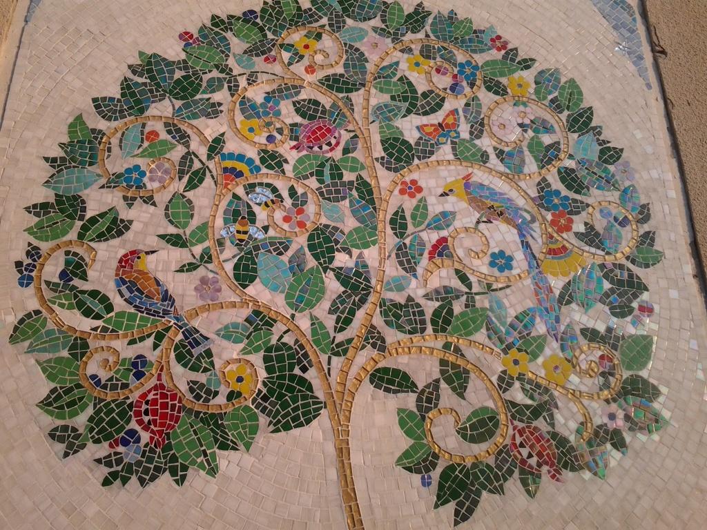 Панно из керамической плитки — мозаики и распечатки на принтере