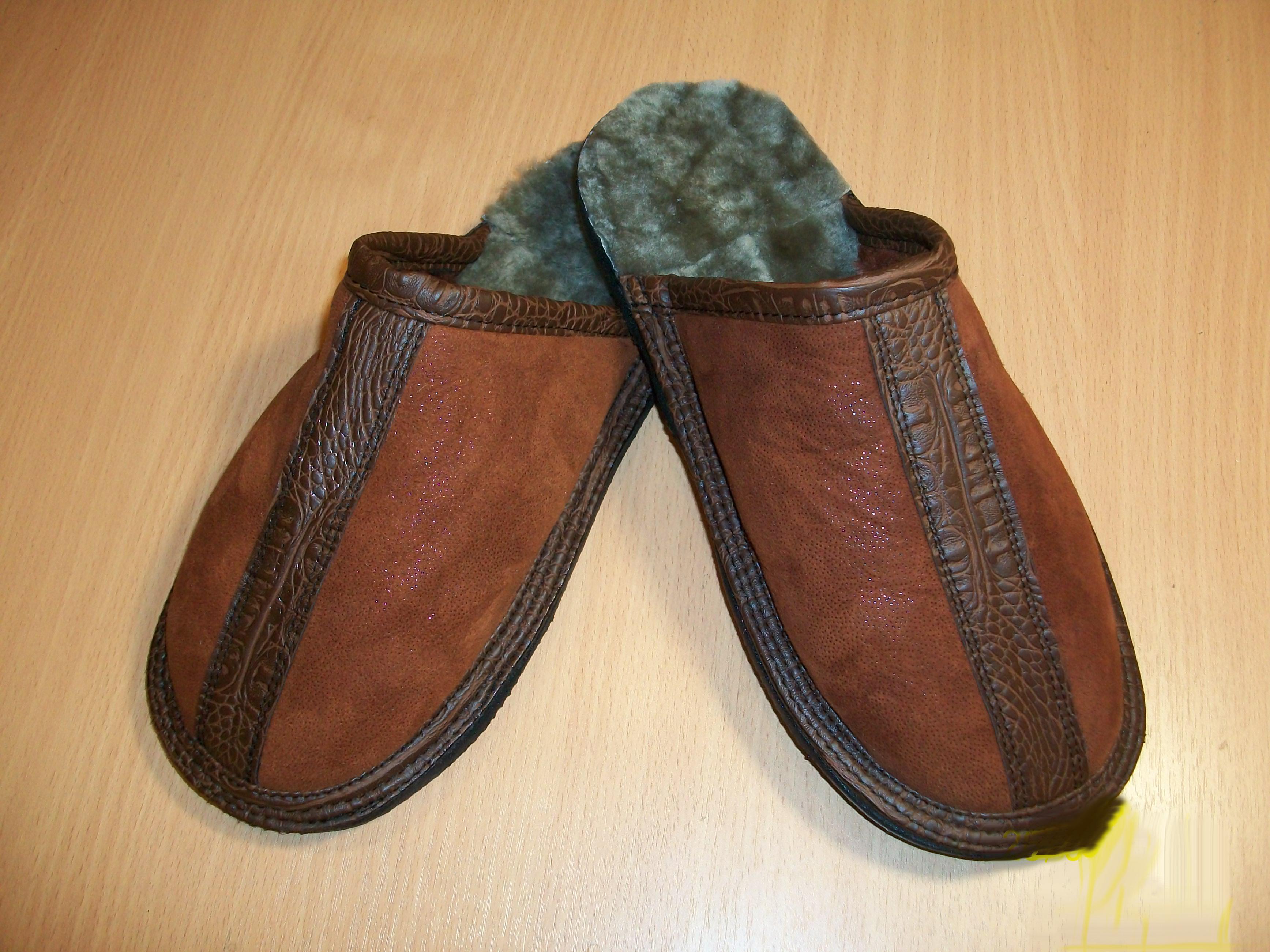 Обувь из старой дубленки