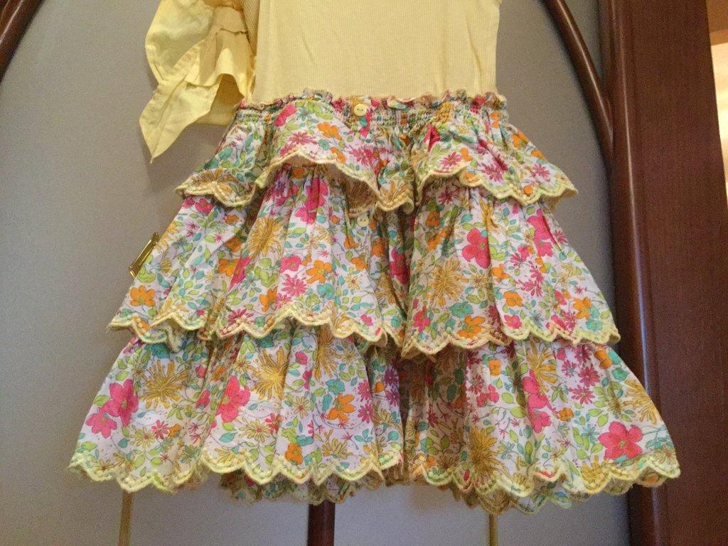 Солнечное платье с рюшами