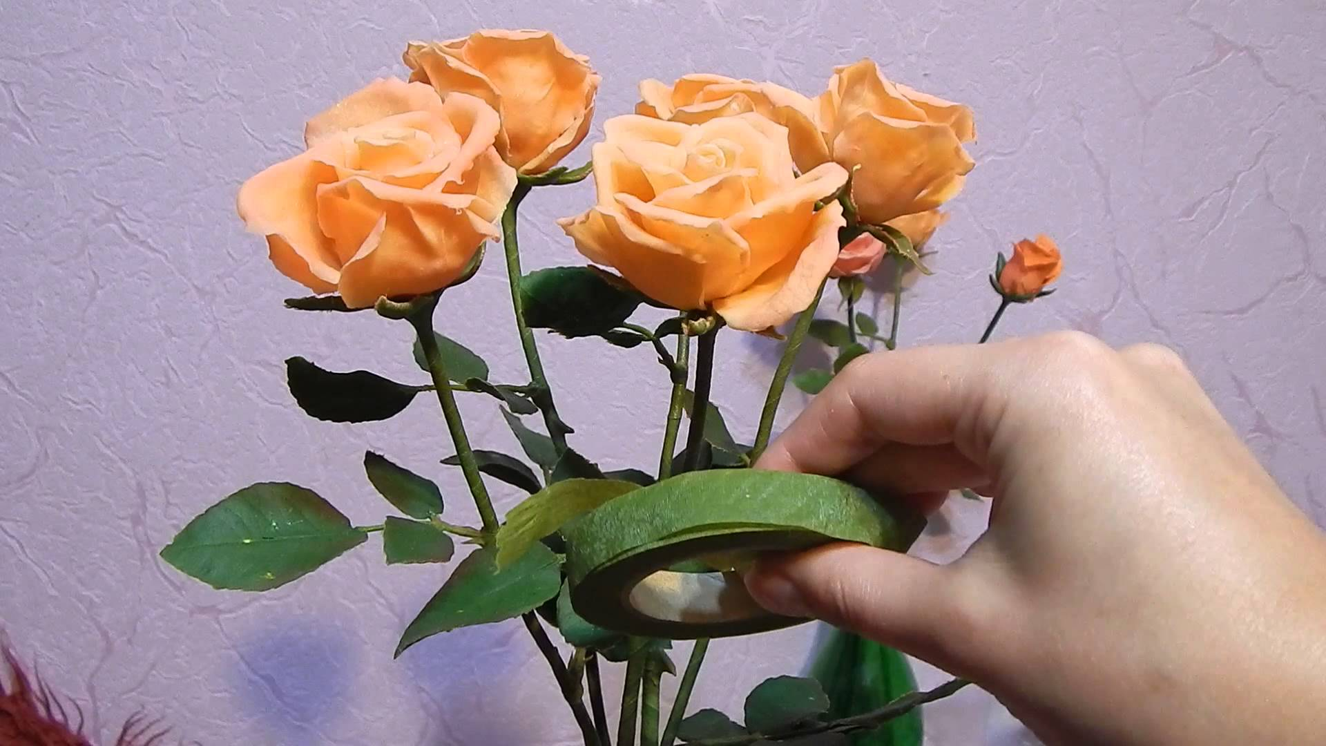 Лепим розу из холодного фарфора