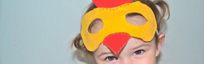 Карнавальная маска в виде петуха