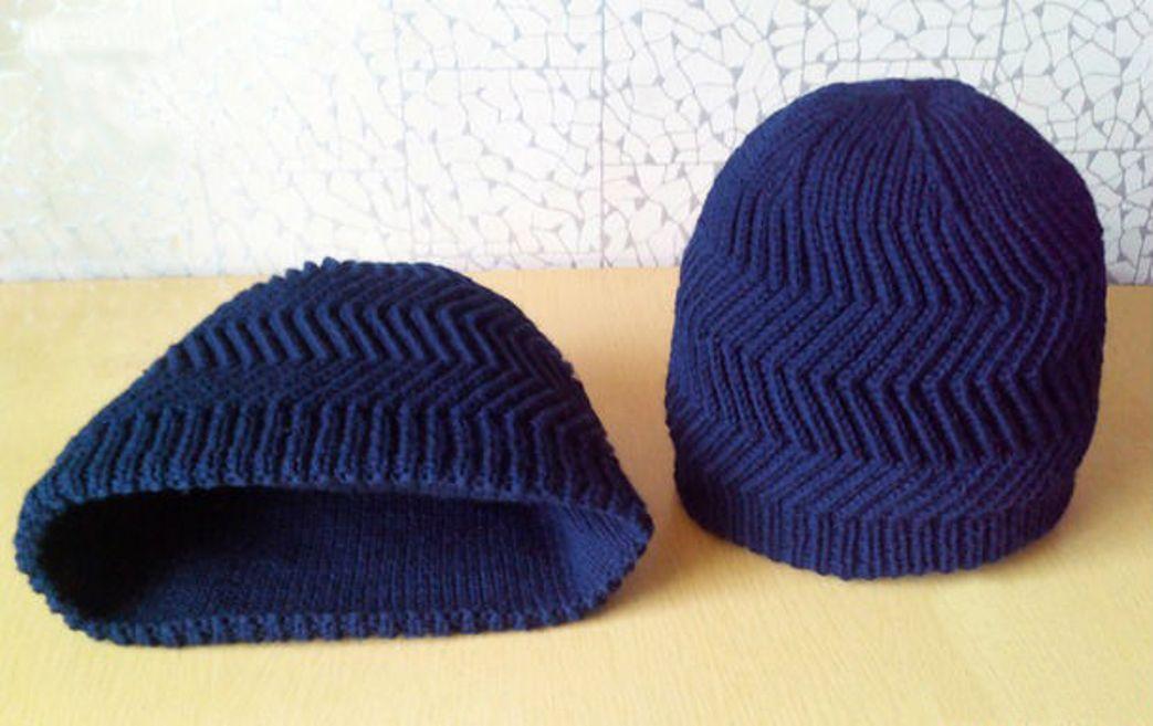 Мужская шапка «Зигзаг удачи»