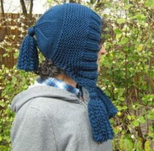 Шапка-капор для женщины спицами