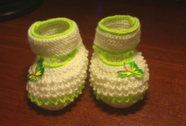 Пинетки-туфельки для любимой дочурки