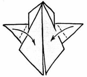 Мишка оригами из бумаги