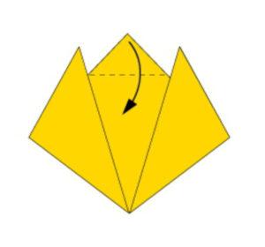 Кот в технике оригами