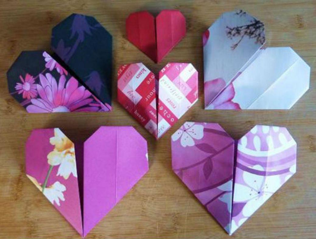 Милое сердце из бумаги своими руками