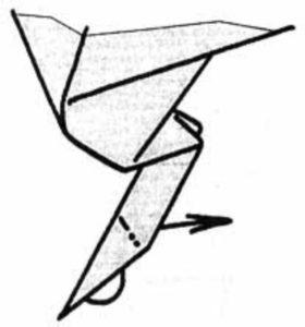 Оригами в виде петуха
