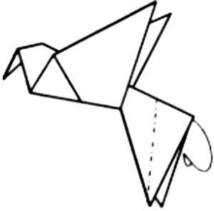 Оригами птица