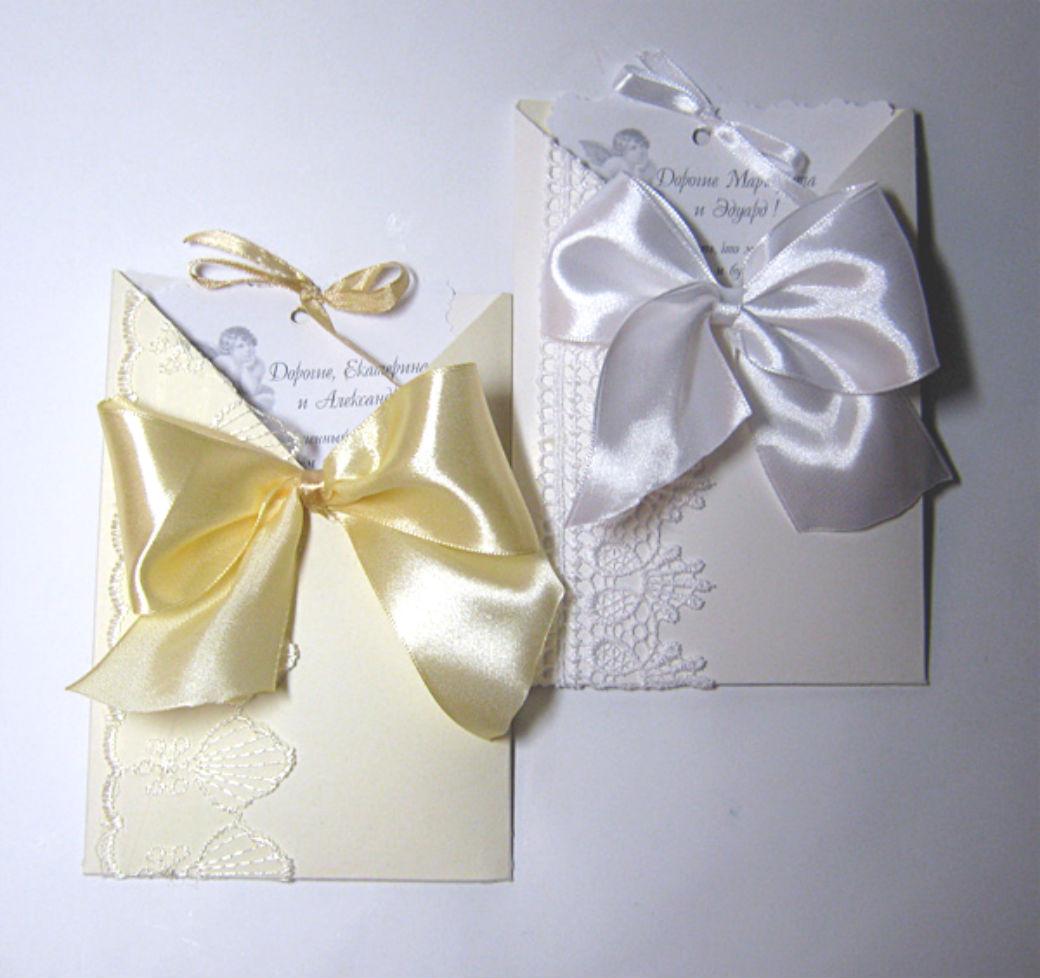 Нежные приглашения на свадьбу своими руками