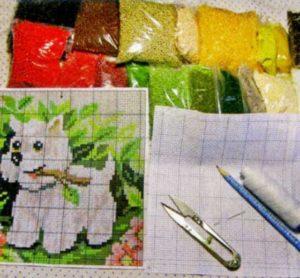 Как сделать картину из бисера своими руками