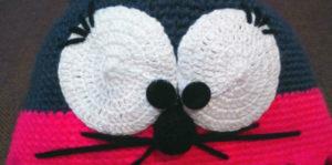Шапка мышка крючком