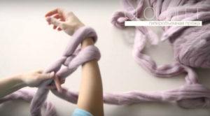 плед крупной вязки своими руками