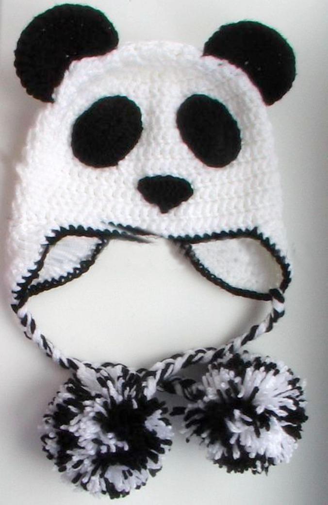 Шапка Панда крючком
