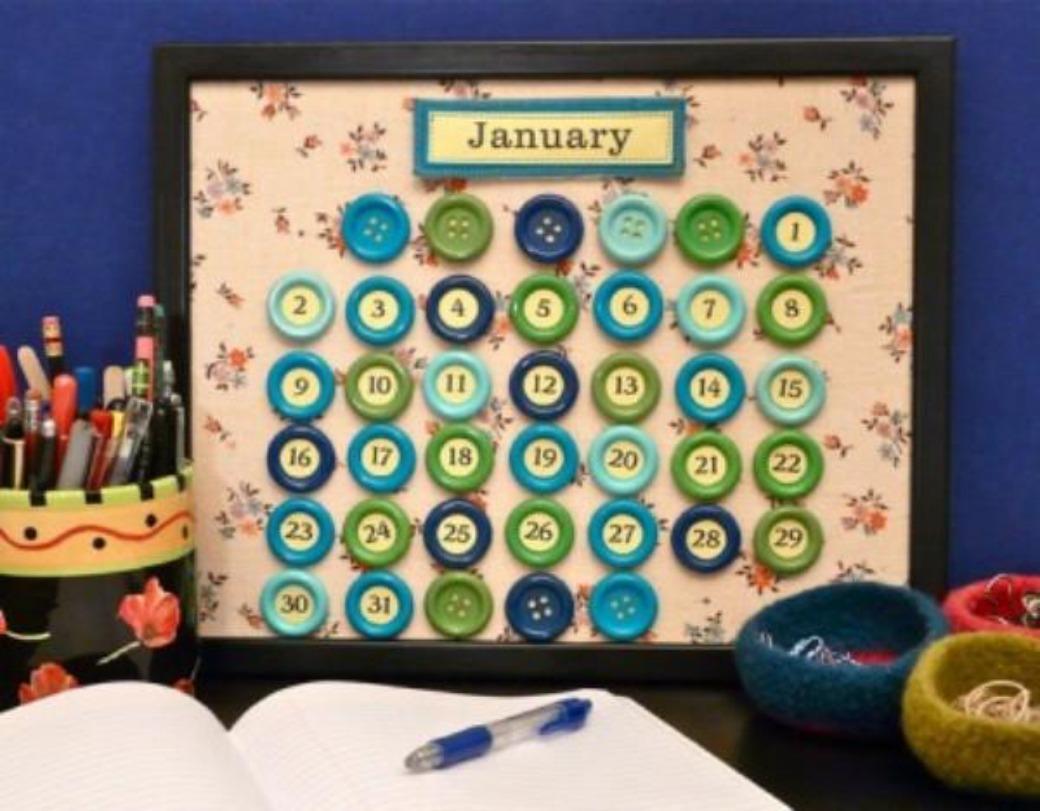 Как сделать календарь на год своими руками